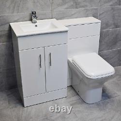 1000mm Naomi Vanity Furniture Basin Sink and Toilet Set Bathroom Suite Units