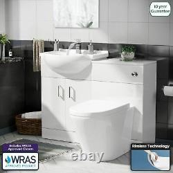 1050 mm Basin Sink Vanity Cabinet and BTW WC Toilet Set Bathroom Suite Laguna