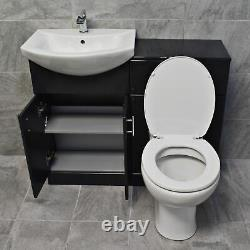 1050mm Anthracite Finish Bathroom Furniture Vanity Set Basin Sink + Toilet Unit
