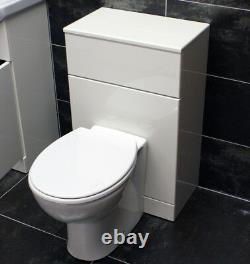 1050mm Bathroom Vanity Basin Sink Unit & Toilet Furniture Set with Tap Option