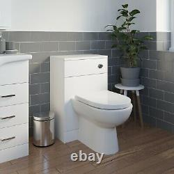 1050mm Toilet and Bathroom Vanity Unit Combined Basin Sink Furniture White NDT