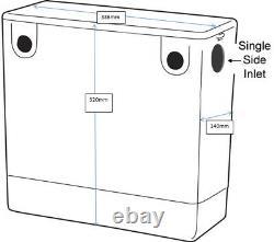 1100 mm Bathroom Vanity Unit Basin Toilet Combined Furniture Right Hand Grey