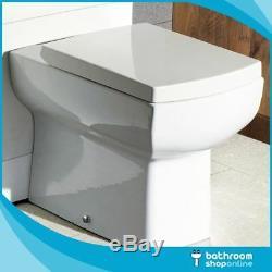 1100mm L Shape Bathroom Furniture Suite BTW Toilet Vanity WC Unit Resin Basin