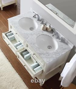 1200 MM Double Vanity Unit Basin Marble Worktop Antique Beige Floor Standing