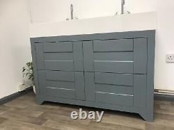 1200mm Traditional 4 Drawers Double Sink Unit Sink Basin Vanity Floor Standing