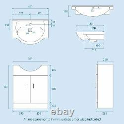 3 Piece WC Rimless Toilet, Basin Vanity Unit & 1700 Bath Bathroom Suite Amber