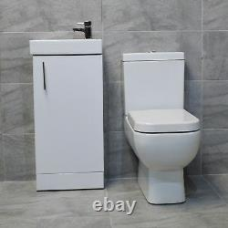 400mm Square Vanity Sink Unit With RAK Series 600 Toilet Cloakroom Set