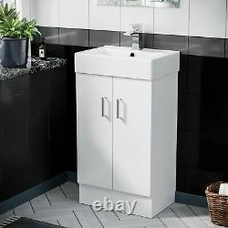 450 mm White Basin Sink Vanity Cabinet Unit Bathroom Furniture Nanuya