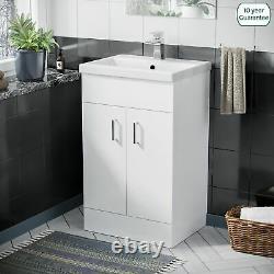 500 mm White Basin Sink Vanity Cabinet Unit Bathroom Furniture Nanuya