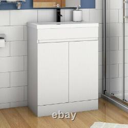 500mm Floor Standing White Bathroom Vanity Unit and Sink Basin Home Furniture