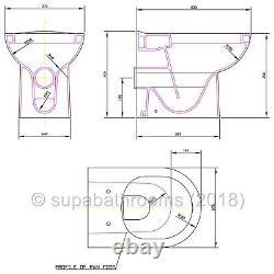 500mm White Vanity Unit Sink Basin Toilet Bathroom Suite Furniture Turin