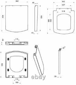 600mm Bathroom Drawer Vanity Unit Basin Toilet Modern Soft Close Seat Gloss Grey