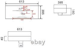 600mm Bathroom Vanity Unit Basin 2 Door Storage Cabinet Furniture Charcoal Grey