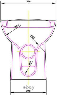 600mm Bathroom Vanity Unit Basin Concealed Cistern Toilet Charcoal Grey Modern