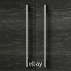 600mm Bathroom Vanity Unit Basin Storage Cabinet Furniture Charcoal Grey Modern