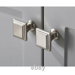 60cm Bathroom Sink Vanity Unit Traditional Basin Base Cabinet Storage Light Grey