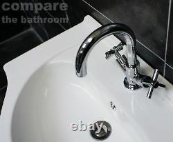 650mm Cloakroom Suite Bathroom Vanity Basin Unit & Toilet Set with Tap Option