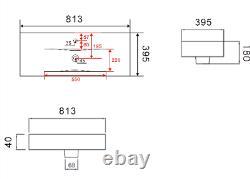 800mm Bathroom Vanity Unit Basin Drawer Storage Cabinet Furniture Gloss White
