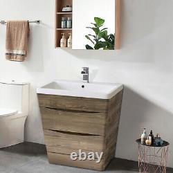 800mm Bathroom Vanity Unit Basin Sink Storage Cabinet Modern Furniture Grey Oak