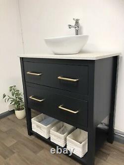 80cm Bathroom Vanity Washstand. Marble countertop & Basin icluded