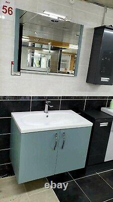 Acorn Fjord Grain Wall Mounted Inc Basin, Mirror, WC Unit & BTW Pan (Ex-Display)