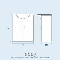 Basin Sink Vanity Unit Toilet Pan WC Set and Cistern Bathroom Suite Debra