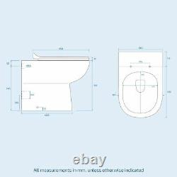 Basin Vanity Sink Toilet Pan and seat Unit WC with Concealed Cistern Set Zebra