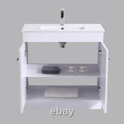 Bathroom Basin Vanity Unit Storage Tall Cabinet WC Toilet Furniture Gloss White
