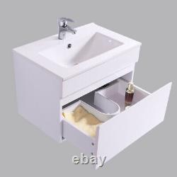 Bathroom Basin Vanity Unit Tall Storage Furniture Mirror Cabinet Gloss White