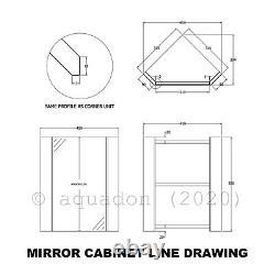 Bathroom Corner Vanity Unit Cloakroom 2 Door Storage Basin Taps Mirror Cabinet