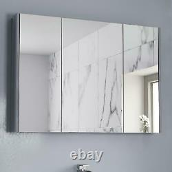 Bathroom Furniture Basin Vanity Toilet Unit Mirror Storage Cabinet Grey Gloss