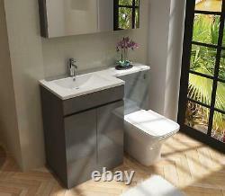 Bathroom LH & RH Combination Vanity Unit & Basin 1100mm Anthracite Neptune