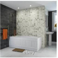 Bathroom Suite 1700mm Straight Bath Close Coupled Toilet WC Basin Vanity Unit