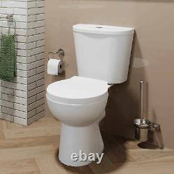 Bathroom Suite Close Coupled Toilet & Cloakroom Vanity Unit Basin Compact White