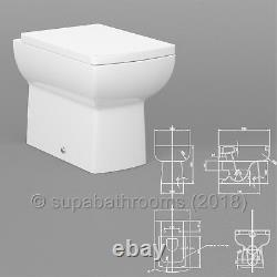 Bathroom Vanity Back to Wall Unit, WC Toilet Pan, Cistern & Seat, All Sizes