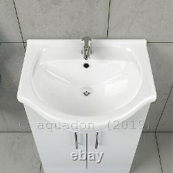 Bathroom Vanity Unit 550mm Basin Sink Cloakroom Furniture Storage Cabinet