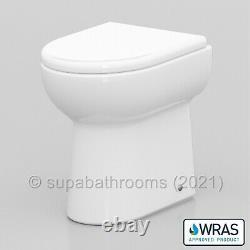 Bathroom Vanity Unit 550mm Basin Sink Linton Back to Wall Toilet Furniture Suite