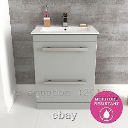 Bathroom Vanity Unit 600mm Edon Grey Storage Cabinet Furniture Door & Drawer
