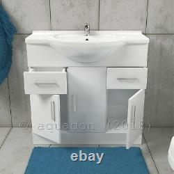 Bathroom Vanity Unit 850mm Basin Sink Cloakroom Furniture Storage Cabinet