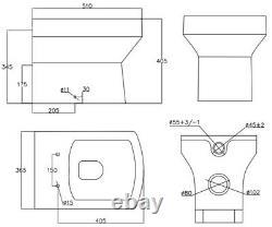Bathroom Vanity Unit Basin 1100 mm Toilet Combined Furniture Right Hand RH Grey