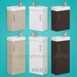 Bathroom Vanity Unit & Basin 400mm Minimalist Compact