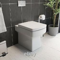 Bathroom Vanity Unit Basin Sink 900mm Toilet Combined Furniture Right Hand White
