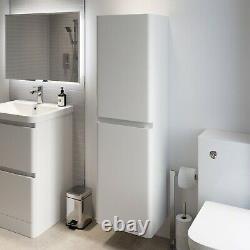 Bathroom Vanity Unit Basin Storage Cabinet Toilet WC Soft Close Furniture White