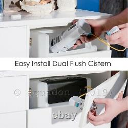 Bathroom Vanity Unit Cabinet White Furniture Toilet Basin Sink Cloakroom Storage