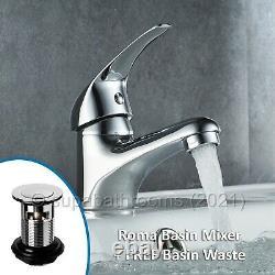 Bathroom Vanity Unit Cloakroom Compact & Basin Sink 400mm Wall Hung & Floor