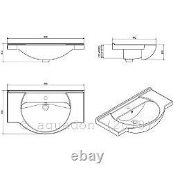 Bathroom Vanity Unit Kass 850mm Sink Basin Cloakroom Furniture Storage Cabinet