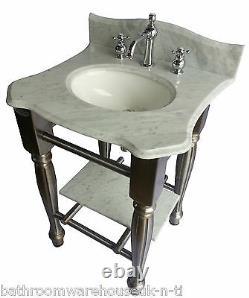Cast Iron Vanity Unit Windsor & Buckingham Carrara Marble