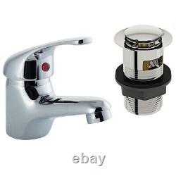 Close Coupled Short Projection Toilet Pan Cistern Vanity Unit Basin Sink Cabinet