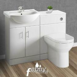 Complete Bathroom Cloakroom Furniture Suite Vanity Unit Basin Sink WC Toilet Pan