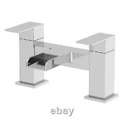 Complete Bathroom Suite L Shape LH 1600 Bath Toilet Vanity Unit Taps Shower Grey